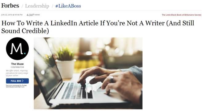 how to write linkedin article 2